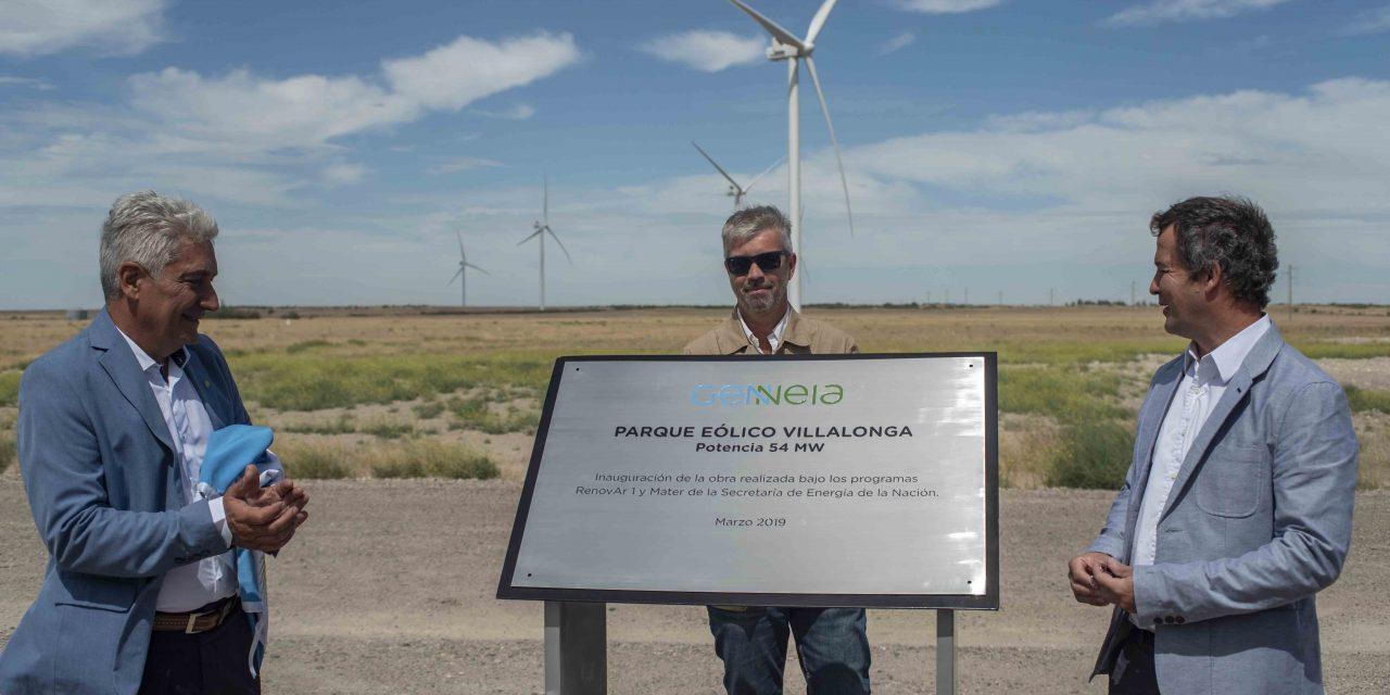 Con la presencia de autoridades, Genneia inauguró ayer el parque eólico villalonga en Buenos Aires