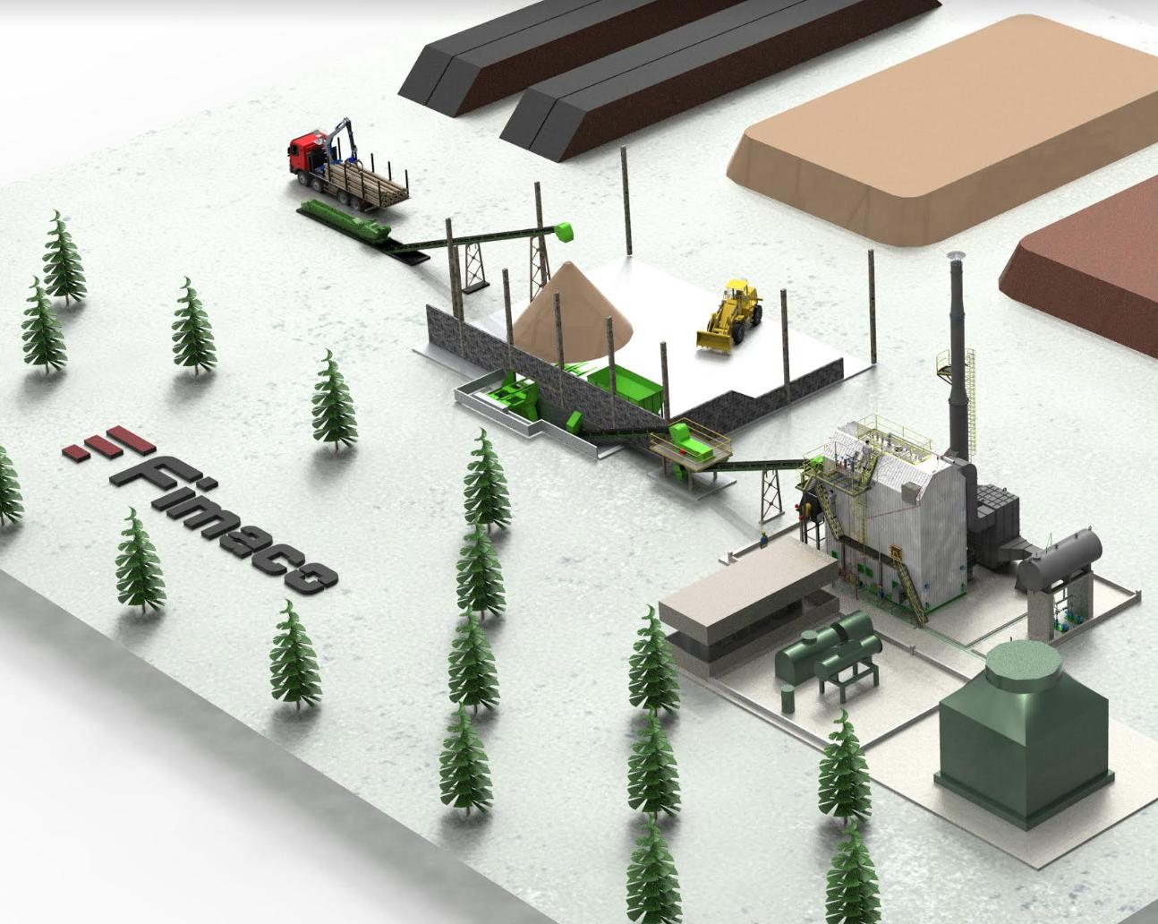 Planta para autogeneracion energía electrica