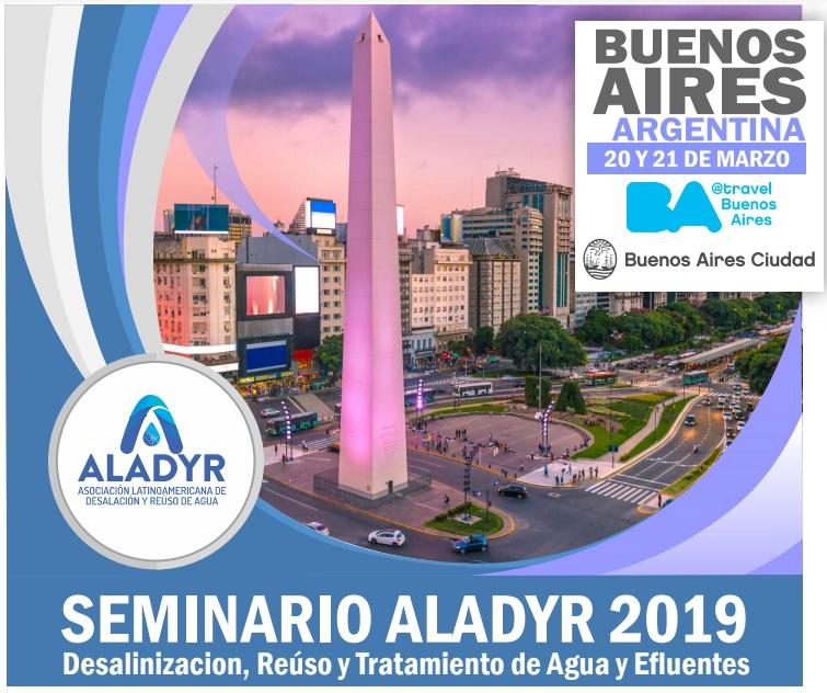 Argentina reunirá a líderes locales y mundiales de la industria para garantizar agua segura en Latinoamérica y debatir sobre su uso sustentable en el Seminario de ALADYR