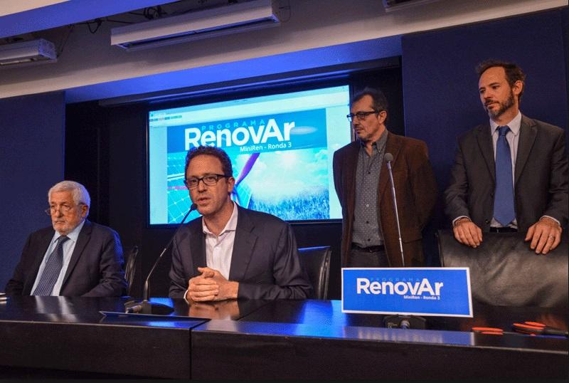 El Gobierno argentino posterga una semana la adjudicación de contratos de energías renovables de la subasta «Ronda 3»