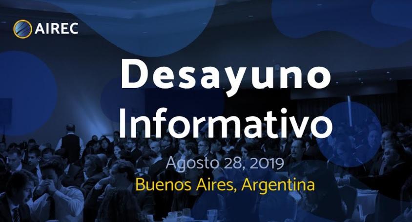 AIREC WEEK realizará un desayuno informativo y gratuito sobre energías renovables en Buenos Aires
