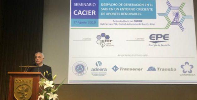 El presidente de CACIER cerró el evento sobre despacho de renovables