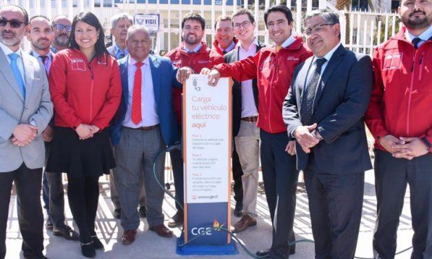 Autoridades inauguraron ayer la primera electrolinera de la Región de Atacama desarrollada por CGE