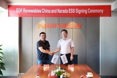 Narada firmó un acuerdo de cooperación con EDF Renewables para impulsar proyectos de almacenamiento de baterías en China
