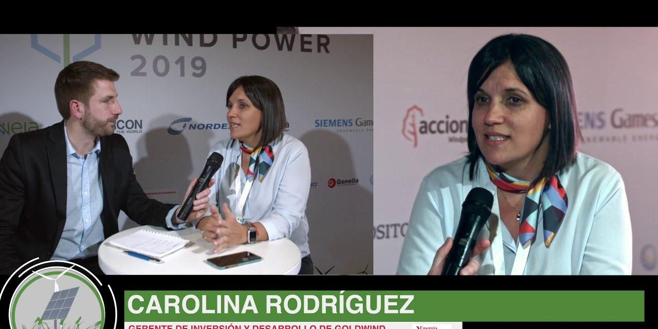 Carolina Rodríguez de Goldwind: «Necesitamos saber qué va a pasar con el futuro de la industria eólica»