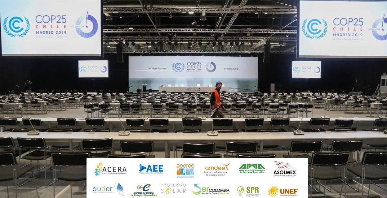 COP25: Doce asociaciones empresarias de Latinoamérica firman el compromiso de potenciar utilización de energías renovables