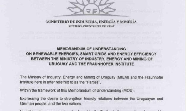 Fraunhoffer hace punta en Uruguay para explorar energías renovables, smart grids y eficiencia energética