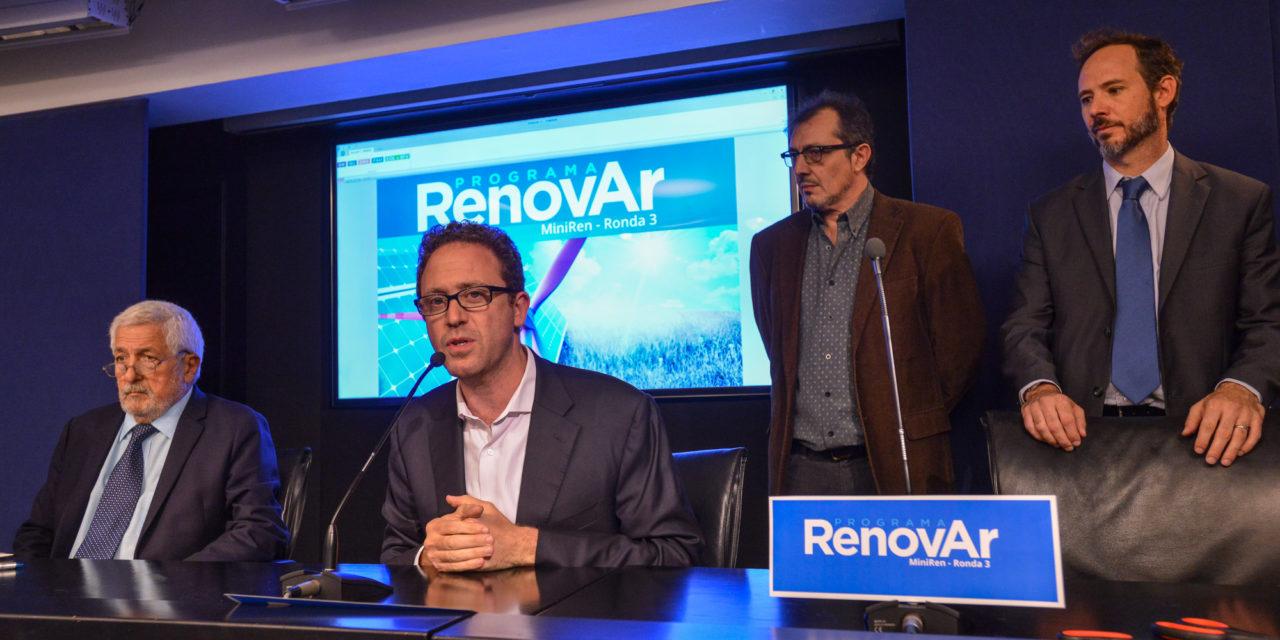 El Gobierno argentino celebró ocho nuevos contratos de la licitación de energías renovables «Ronda 3»