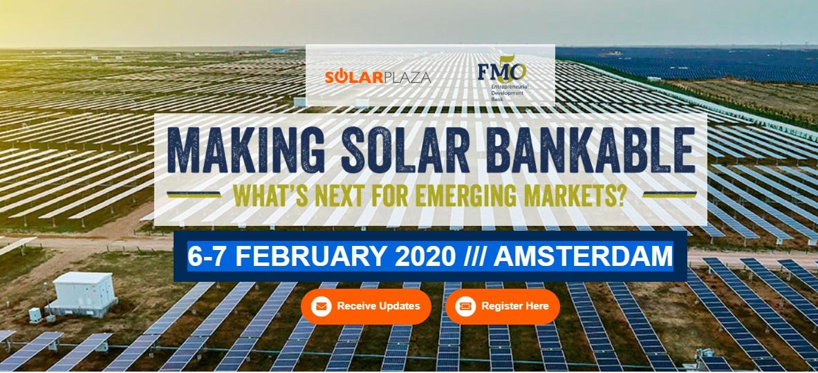 """Empresarios de energía solar de todo el mundo se reúnen en el evento """"Making Solar Bankable"""""""