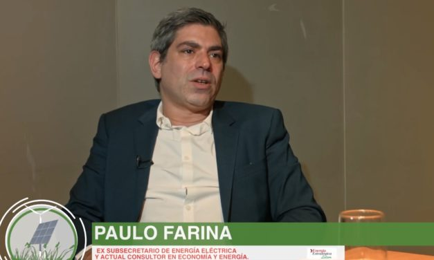 """Paulo Farina: """"tiene que haber una perspectiva de ingreso de 500 a 1.000 MW anuales de energías renovables"""" en Argentina"""