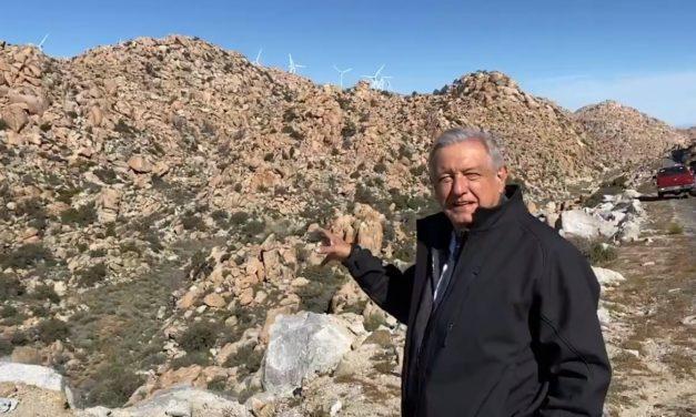 López Obrador apuntó contra la energía eólica: «Son negocios privados porque se tiene que subsidiar a esas empresas»