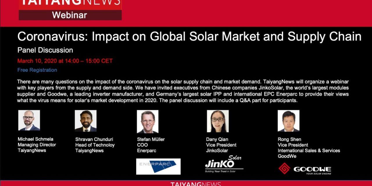 GoodWe participará de un webinar que analizará el impacto del coronavirus en el sector solar fotovoltaico