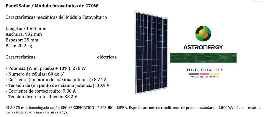 paneles fotovoltaicos alemanes Astronergy
