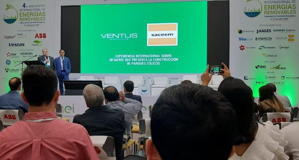 Ventus y Saceem pusieron el acento en la construcción de parques eólicos en La Guajira de Colombia