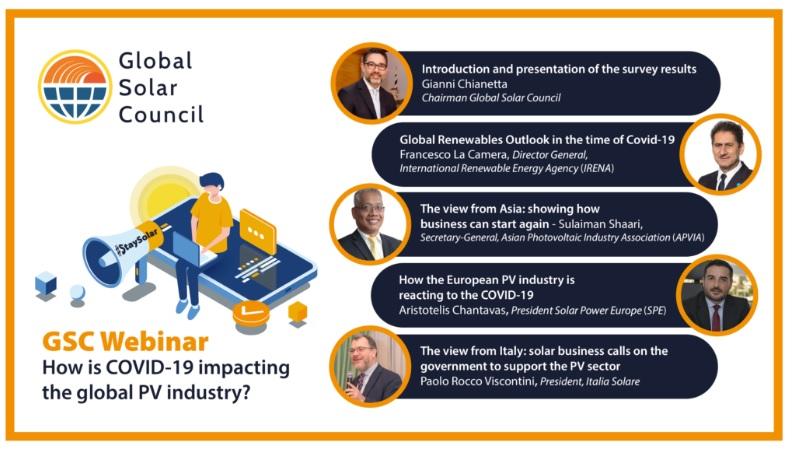 COVID19: Cinco dirigentes internacionales analizaron el futuro de la energía solar en un webinar del Global Solar Council