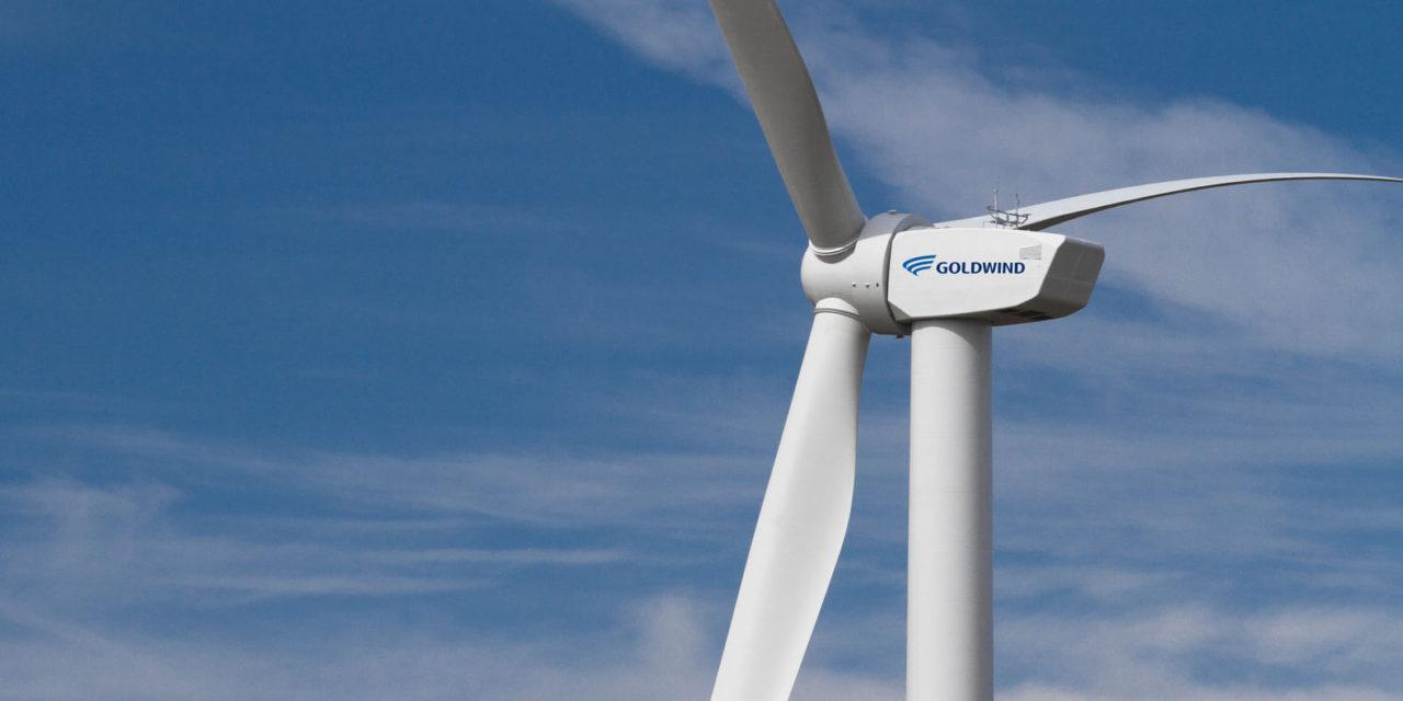 Goldwind comienza las pruebas de un parque eólico de 100 MW