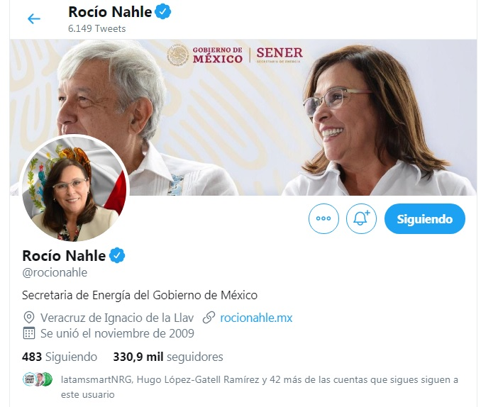 El polémico Tweet de Rocío Nahle que apuntó contra las energías renovables en México
