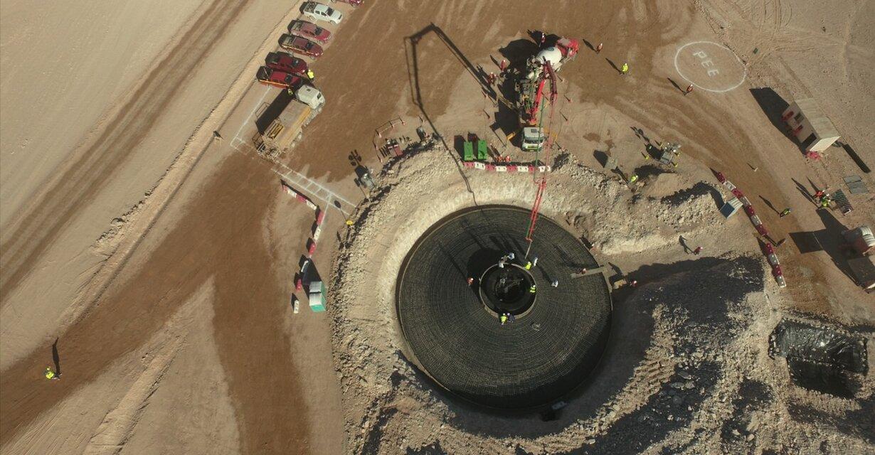 Mainstream logra nuevo hito en construcción del parque eólico Tchamma