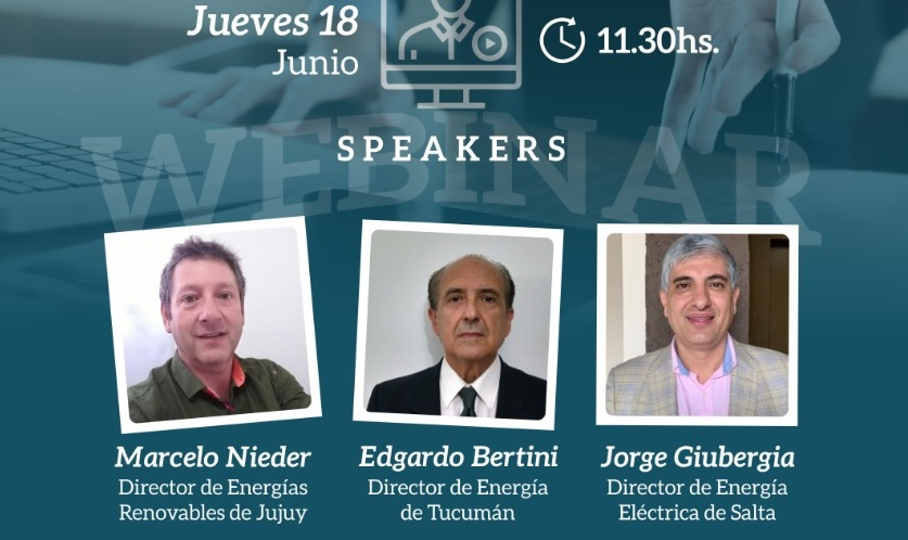 Tucumán, Salta y Jujuy analizarán mañana sus planes de energías renovables