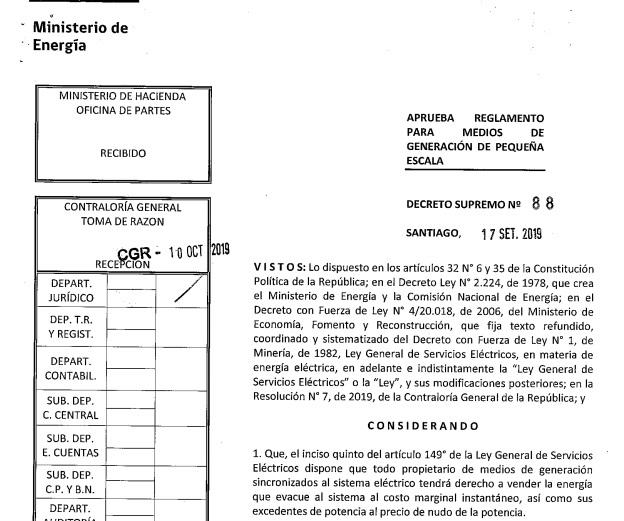 Chile: Contraloría evalúa nuevos cambios neurálgicos en el decreto que modificará el futuro de los PMGD