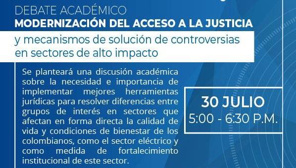 Hoy se debate: modernización de la justicia y solución a controversias del sector energético en Colombia