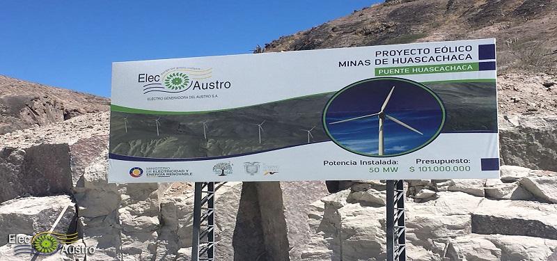 Avanza la construcción del parque eólico de Elecaustro en Ecuador