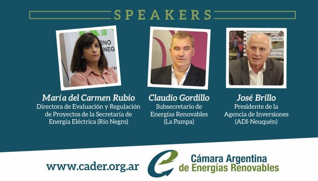 CADER invita a otro webinar para conocer planes de energías renovables en Río Negro, La Pampa y Neuquén