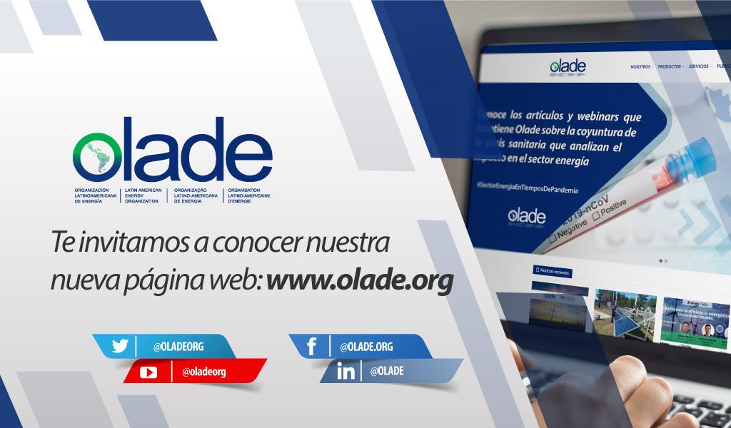Con estadísticas sobre energías renovables Olade lanzó su nueva web exclusiva sobre Latinoamérica