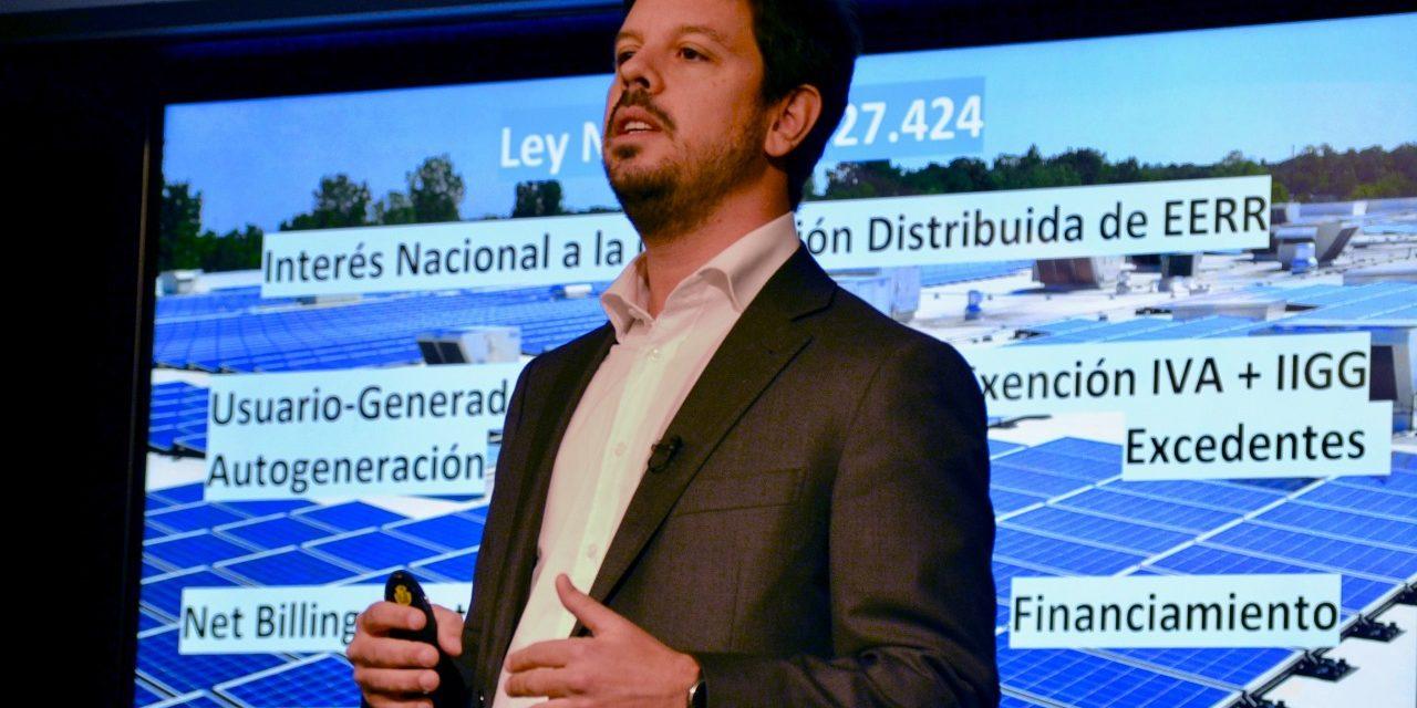 """Morrone: """"La generación distribuida tiene todo para ser protagonista en Argentina"""""""