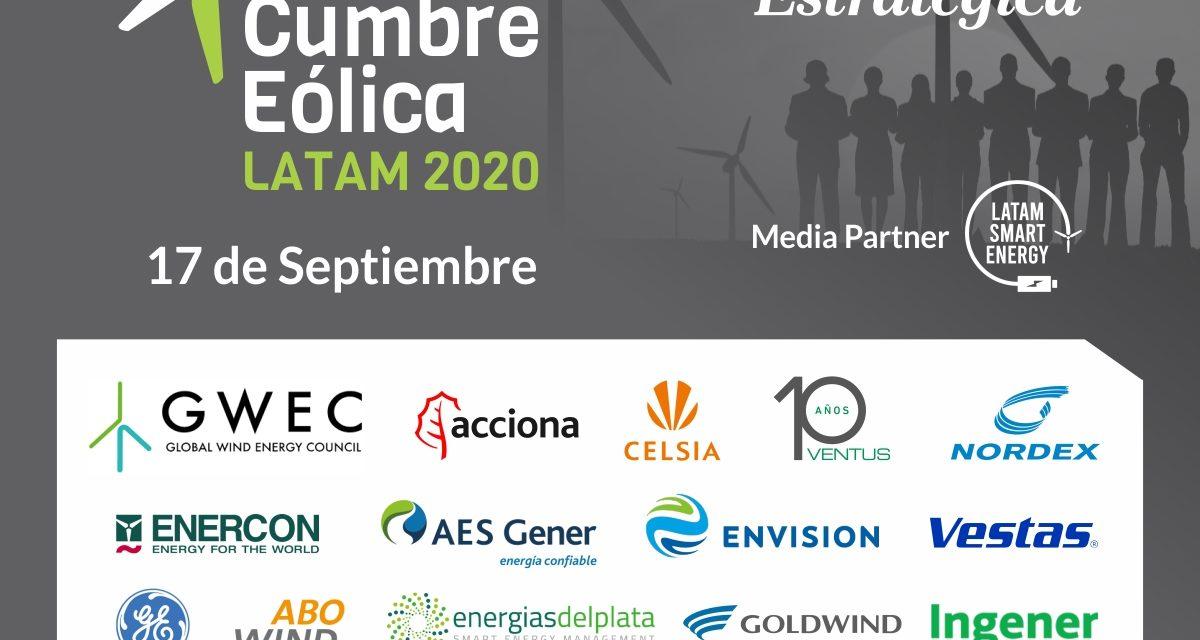 Inscripción abierta: Gran expectativa por la «Cumbre Eólica Latam 2020» organizada por Energía Estratégica