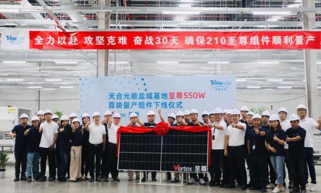 Trina incrementa capacidad de producción de módulos de ultra alta potencia en 15 GW