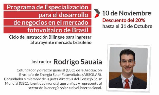 Cómo desembarcar y operar en el mercado fotovoltaico de Brasil: inscripción al programa de especialización técnico-ejecutivo