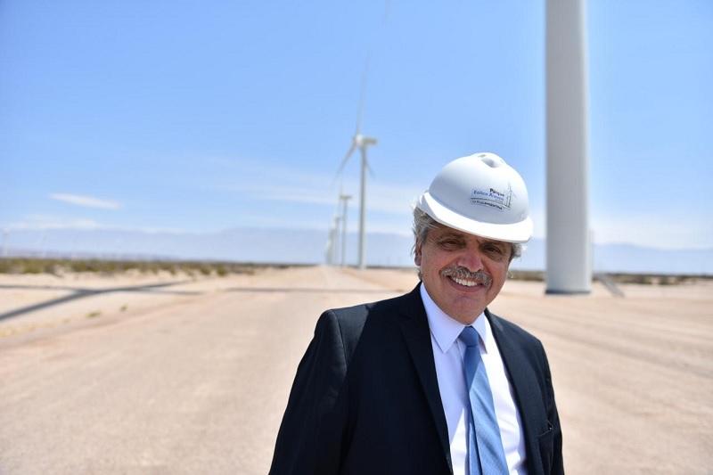 El presidente Alberto Fernández aspira ser «el primer abanderado» de la energía renovable en Argentina