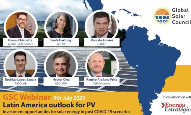 Las perspectivas del mercado solar en Latinoamérica según un webinar de Global Solar Council