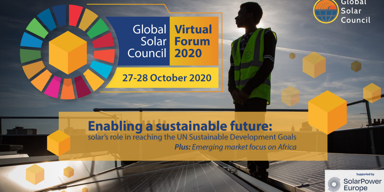 Global Solar Council debatirá sobre el rol de la energía solar en la recuperación económica mundial