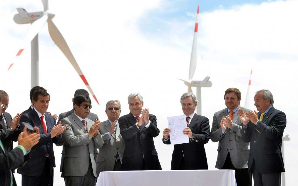 Chile alcanzará en 2023 el 50% de energías renovables en su matriz eléctrica