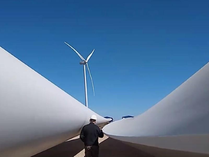 Reparan las palas de La Banderita, el parque eólico que mantiene un 51% de factor de carga