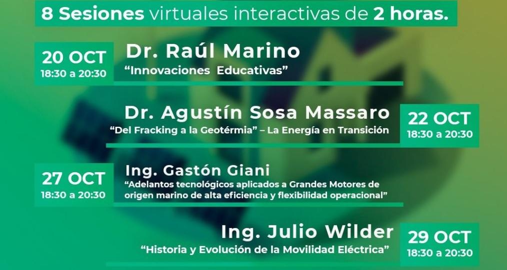 Ocho sesiones virtuales analizarán el futuro energético de Argentina