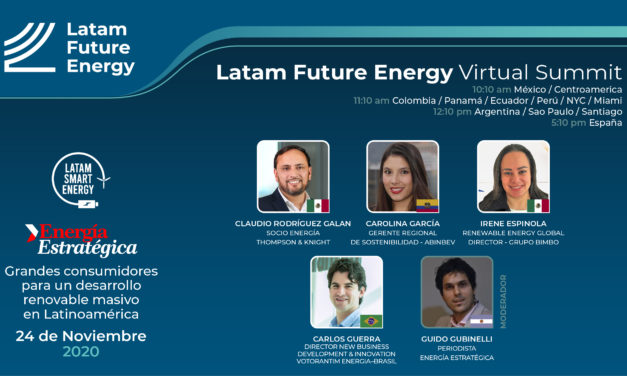 Grandes consumidores analizarán compras de energías renovables en Latam Future Energy