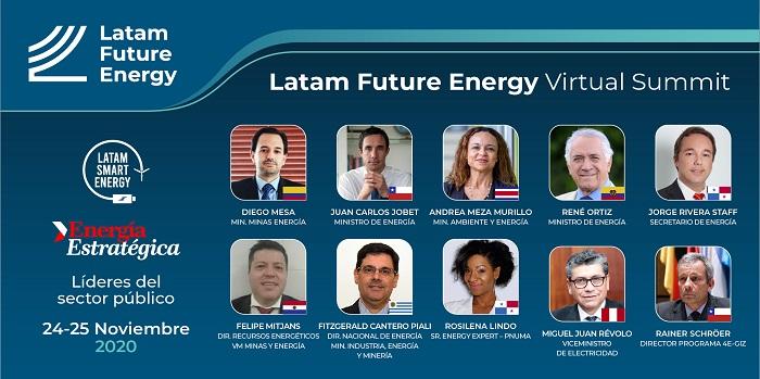 Los ministros de energía de Chile, Colombia, Ecuador, Costa Rica y Panamá serán ponentes de Latam Future Energy