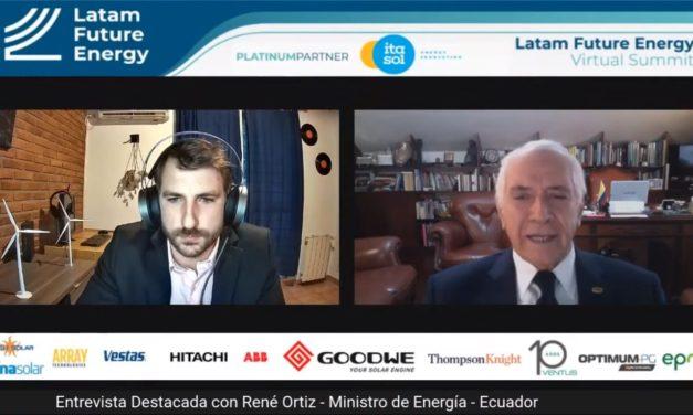 El Ministro Ortiz detalló las nuevas condiciones de la subasta de renovables de Ecuador