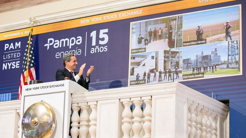 Pampa Energía festejo sus 15 años con un  toque de campana en la Bolsa de Nueva York