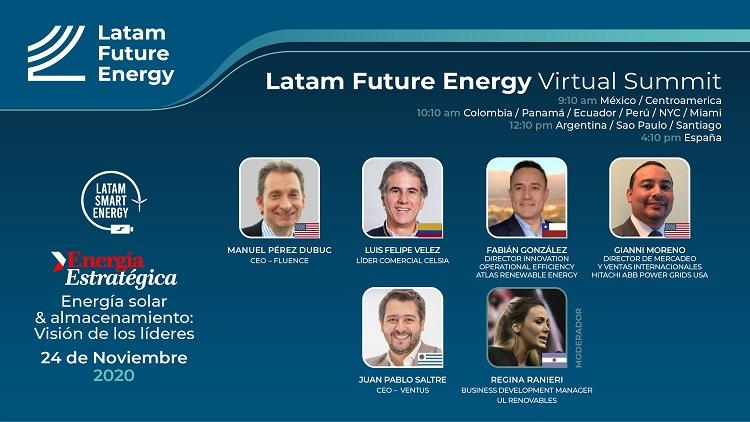 Ventus, Hitachi ABB Power Grids, Fluence, Celsia y Atlas Renewable Energy analizarán sector fotovoltaico en Latam Future Energy