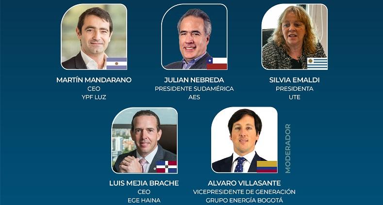 YPF Luz, Ege Haina, UTE, AES y Grupo Energía Bogotá analizarán planes de renovables en Latam Future Energy
