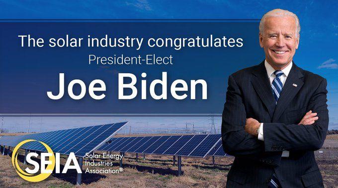 Tras señales de Biden tres empresas se suman a la junta directiva de la asociación fotovoltaica de Estados Unidos