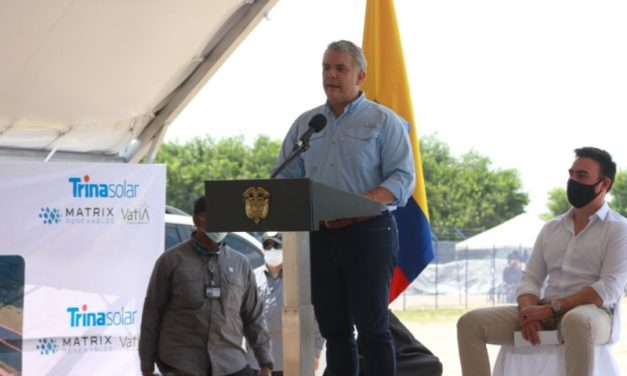 El presidente Duque inauguró la planta de energía fotovoltaica de Trina Solar en Colombia