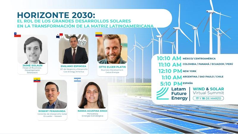 Celsia, Cox Energy, Neoen y Solarpack anuncian sus planes en Latam Future Energy