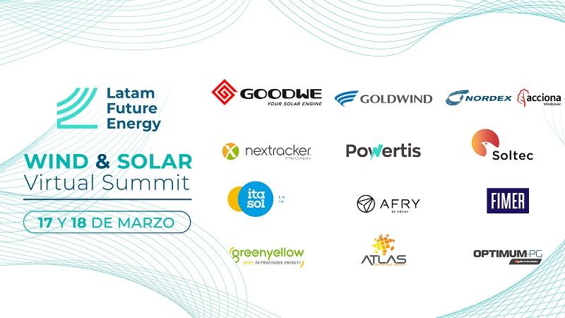 AES Gener, Atlas Renewable Energy, Greenyellow y Powertis debatirán sobre inversiones en Latinoamérica