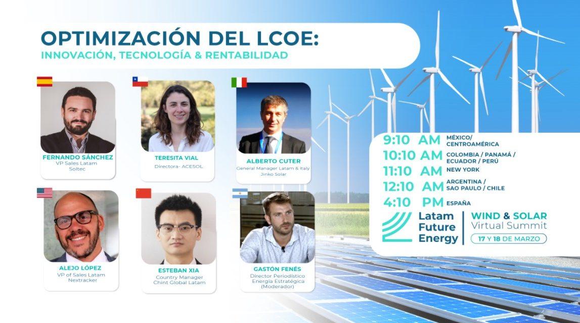 Jinko, Nextracker, Chint, Soltec y ACESOL debatirán sobre el futuro tecnológico de la energía solar