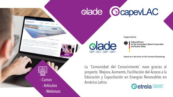 Olade lanzó ¨Comunidad del Conocimiento¨: una plataforma con contenido sobre energías renovables